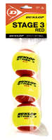 Dunlop stage 3 red 3 stuks tennisballen